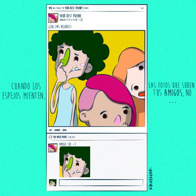 Etiquetar amigos en Facebook